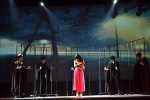 我院流行演唱学院音乐剧系第二部原创音乐剧《囚,你爱我》首演火爆